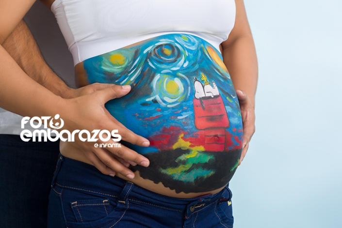 Body paint embarazo