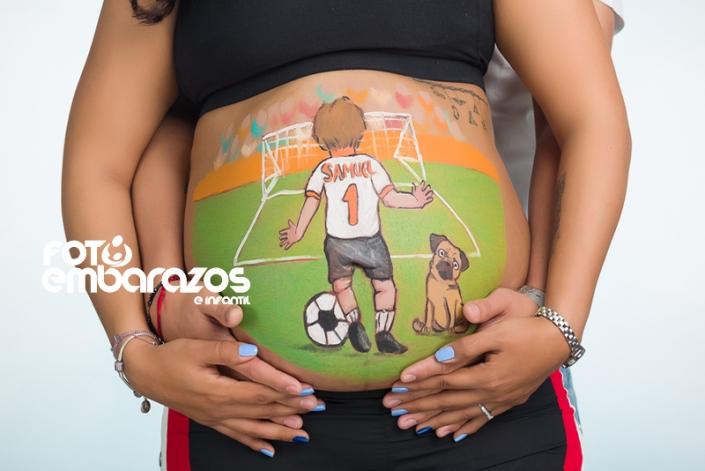 Body paint embarazo